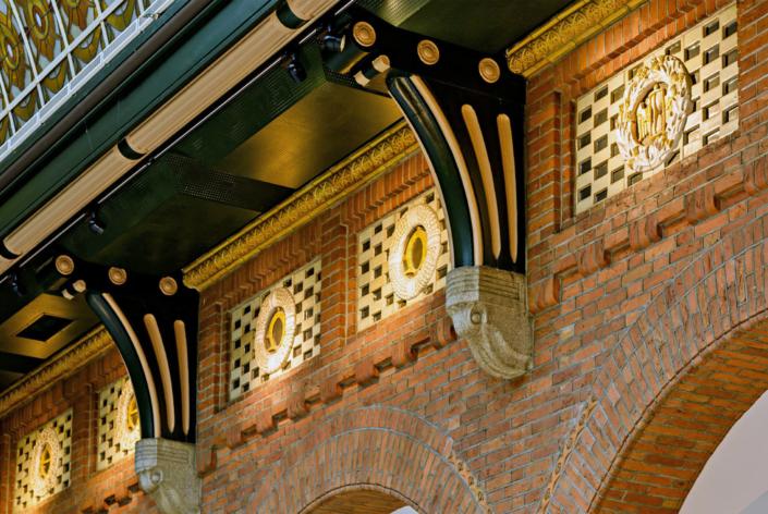Publiekslocatie Centrum Stadhuis in Rotterdam ornament